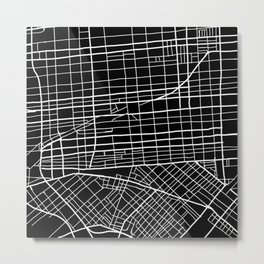 Fishtown and South Kensington Map Metal Print