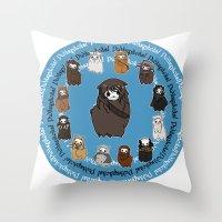 kili Throw Pillows featuring Dwarpacas(Kili) by Lady Cibia