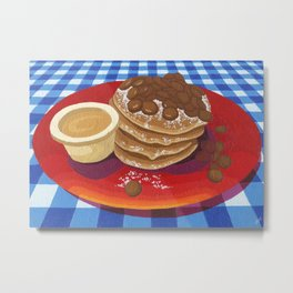 Pancakes Week 4 Metal Print