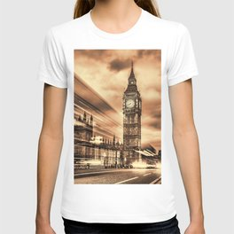 The Big Ben in retro style in London T-shirt