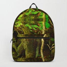 Dark Green Divine Forest Backpack
