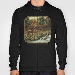 Deer and Waterfall Hoody