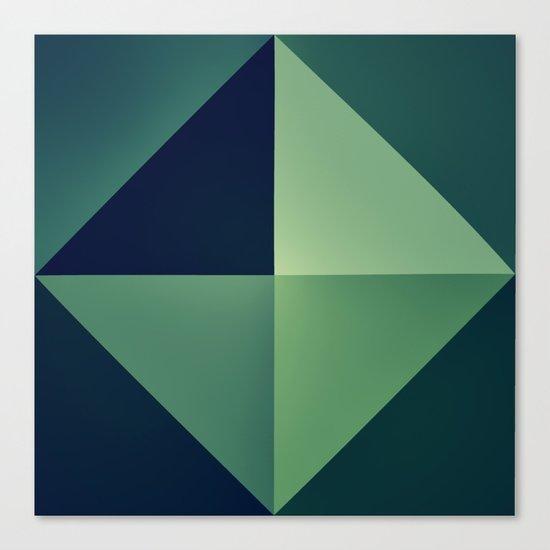 3D green wallart Canvas Print
