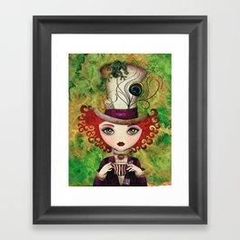 Lady Hatter Framed Art Print