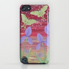 rosy aurora with luna moths, irises, and snails iPod touch Slim Case