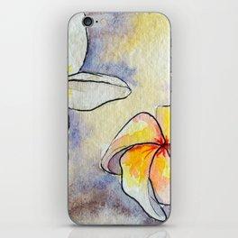 Plumerias iPhone Skin