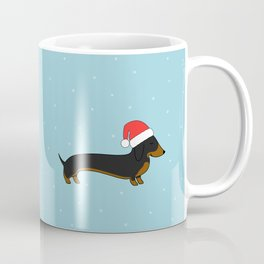 Santa Dachshund Coffee Mug
