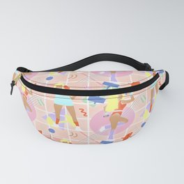 Neon 80's Fitness in Pastel Fanny Pack