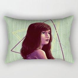 Triangirl Rectangular Pillow