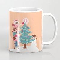luffy Mugs featuring ASL Christmas by yamineftis