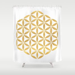 FLOWER OF LIFE Sacred Geometry Shower Curtain