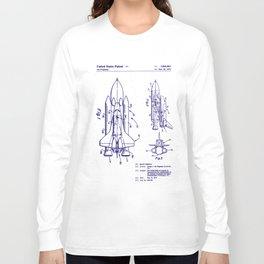 1975 NASA Space Shuttle Patent Long Sleeve T-shirt