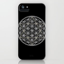 Flower of Life and Star of David iPhone Case