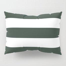 Black leather jacket - solid color - white stripes pattern Pillow Sham