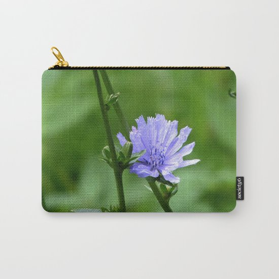 Nature's Garden Purple And Green Carry-All Pouch