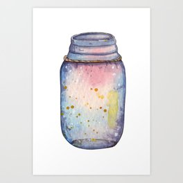 Jar of galaxy Art Print