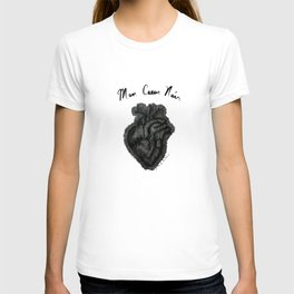 """Mon Coeur Noir "" (My Black Heart) - Original Artwork by DGS T-shirt"