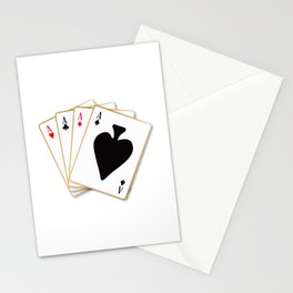 Four Aces Stationery Cards