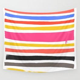 Streifen 001 / Multicolor Stripe Pattern Wall Tapestry