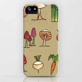 Vegetable Mushrooms food pattern iPhone Case