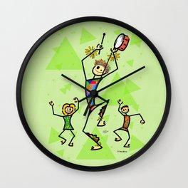 Carnival harlequin Wall Clock