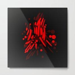 red pattern 2 Metal Print