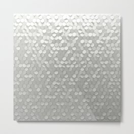 White hexagons Metal Print