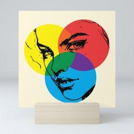 color portrait Mini Art Print