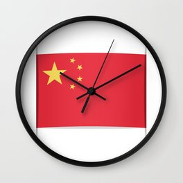 Flag of China. The slit in the paper with shadows. Wall Clock
