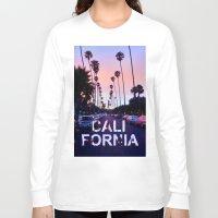 "california Long Sleeve T-shirts featuring CaliforniA by ""CVogiatzi."