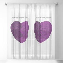 Domestic Violence Awareness Sheer Curtain