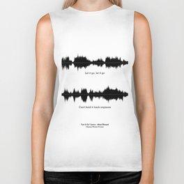 Lab No. 4 - Movie Frozen Music Waveform Print Poster Biker Tank