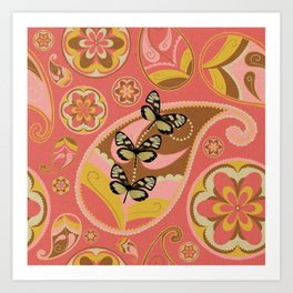Retro In Pink Art Print