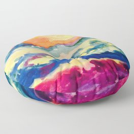 My Starry Watercolor Night Floor Pillow