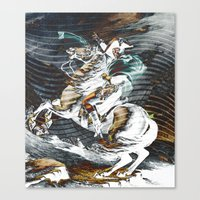 napoleon Canvas Prints featuring Napoleon by FakeFred