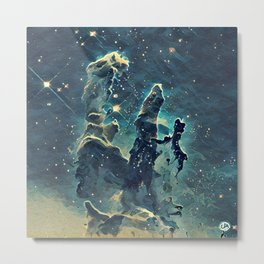 ALTERED Pillars of Creation Metal Print