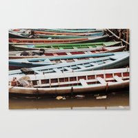 boats Canvas Prints featuring Boats by BTP Designs