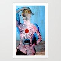 chakra Art Prints featuring chakra by nightowlstudio