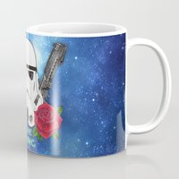 stormtrooper Mugs featuring Stormtrooper by Larissa