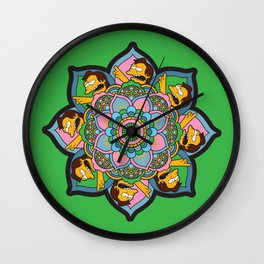 The Nelson Mandala Wall Clock