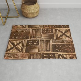 UrbanNesian Brown Siapo Pattern Rug