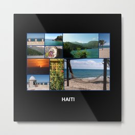 Colorful Photo Collage of Labadee, Haiti Metal Print