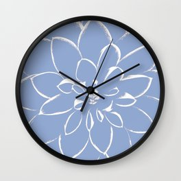 Dahlia Serenity Blue Wall Clock