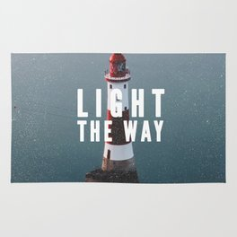Lighthouse - Typography on Photography Rug