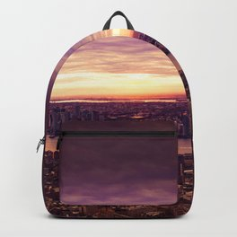 purple sunset New York Backpack