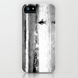 Man versus Nature ~ Surfer iPhone Case