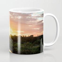 Sunrise over Waiwhakaiho River Coffee Mug