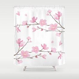 Cherry Blossom - Transparent Background Shower Curtain