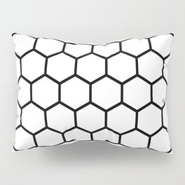 White and black honeycomb pattern Pillow Sham