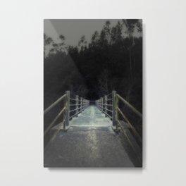 Dark bridge in the forest Metal Print